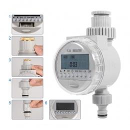 Ogród podlewanie zegar LCD automatyczne elektroniczne sterowanie nawadnianiem czasowy wyłącznik przepływu wody cyfrowego domu in