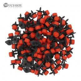 MUCIAKIE 500-10 sztuk regulowany nawadniania zaparowania mikroprzepływowy kroplownik kroplówki głowy 1/4 ''wąż zraszacze ogrodow