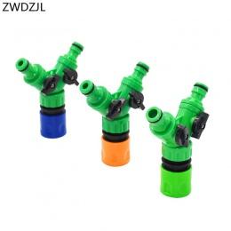 Nawadniania 2 way kranu w kuchni ogród kranu zawór do nawadniania rura wąż Splitter 2 Way szybkie złącze adapter 1 szt