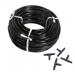 20 m 4/7mm wąż ogrodowy wody mikro nawadniania z 10 sztuk Tee złącza ogrodnictwo trawnik rolnictwa kroplówki rury