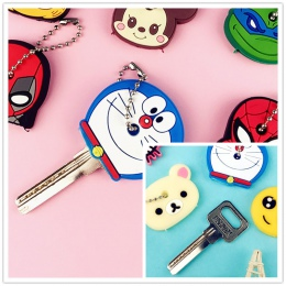 Śliczne kreatywny klucz uchwyt pcv miękkie brelok ozdoba wisiorek Cartoon silikonowe ochronne klucz skrzynki pokrywa dla klucze