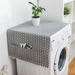 Geometryczne lodówka tkaniny pojedyncze drzwi pokrowiec antykurzowy na lodówkę duszpasterska podwójne otwarte ręcznik pokrowiec