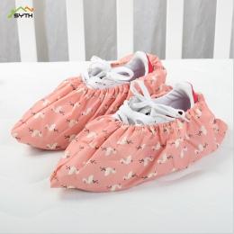 1 para zagęścić wielokrotnego użytku elastyczna pokrowiec na buty domu kryty przeciwpoślizgowe ochraniacze na buty Student maszy