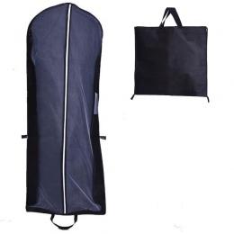 Wysokiej przenośny Zip na ubrania oddychające odporne na kurz torba składana torba suknia ślubna kurz pokrywa torby z włókniny w
