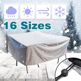 16 rozmiar plandeka wodoodporne meble pokrywa Sofa krzesło stół pokrywa ogród Patio plaży Protector deszcz kurz śniegu pokrowce