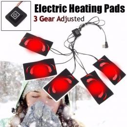 USB-opłata w wysokości ubrania ogrzewanie Pad 5 V ogrzewanie elektryczne arkusz z 3 biegów regulacja temperatury ogrzewanie ciep