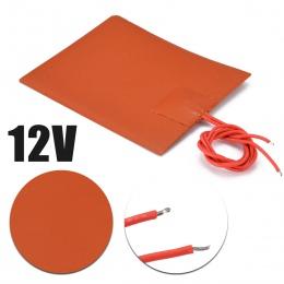 80x100mm 12 V DC 20 W silikonowy ogrzewany łóżko ogrzewania Pad elastyczna wodoodporna dla 3D części drukarki elektryczne podgrz