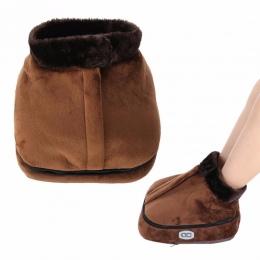 Aksamitna elektryczny ogrzewacz do stóp masażer duży pantofel biuro w domu antypoślizgowe ogrzewacz do stóp poduszki zimowe ocie