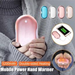 5200 mAh USB Po ciepły podgrzewacz cieplej przenośne mobilne źródło zasilania Macarons podwójne ogrzewanie ze stopu aluminium ze