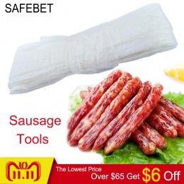 Kiełbasa narzędzia do pakowania 1 Pc kiełbasa powłoki osłonki do kiełbasy Hot Dog obudowa Salami gotowania niejadalne obudowy na