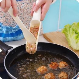 2 sztuk/zestaw DIY wygodne szczypce do formowania pulpetów przydatne Pattie Fish Beaf kulki mięsne Burger zestawy kuchenne narzę