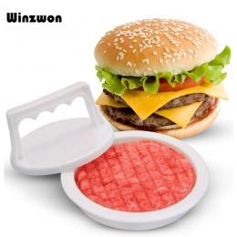 1 zestaw z tworzywa sztucznego mięsa naciśnij narzędzie prasa do burgerów Hamburger ekspres formy łatwe uwalnianie wołowiny Hamb