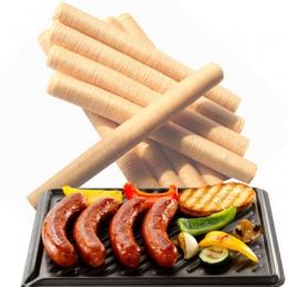 14 M * 26 MM kiełbasa narzędzia do pakowania 1 Pc kiełbasa łuski dla kiełbasa Hot Dog kolagenu obudowa Salami do gotowania obudo