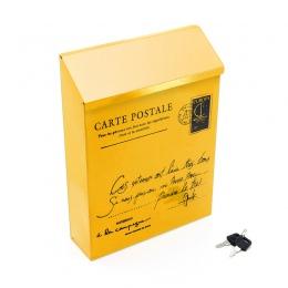 Retro duszpasterska amerykańska do montażu na ścianie skrzynka pocztowa moda wiadro gazety pudełka skrzynka pocztowa Metal list