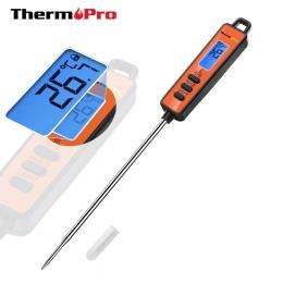 ThermoPro TP-01A cyfrowy termometr kuchenny do mięsa gotowanie grill mleka wody termometr piekarnika sonda z podświetlany ekran