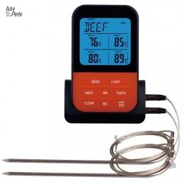 AsyPets bezprzewodowy wodoodporny grill termometr cyfrowy termometr do gotowania mięsa żywności piekarnik termometr do grillowan