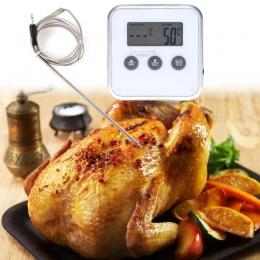 Cyfrowy piekarnik termometry bezprzewodowy jedzenie gotowanie grill termometr LCD sprzęt do grillowania zegar temperatury sondy