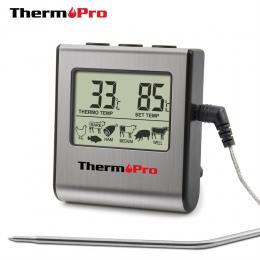 ThermoPro TP-16 termometr cyfrowy do piekarnika cyfrowy wyświetlacz Lcd sonda termometr żywności Timer gotowanie do kuchni na gr