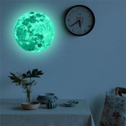 20 cm Luminous ziemia księżyc Cartoon DIY 3D naklejki ścienne dla dzieci pokój sypialnia blask w ciemności naklejki ścienne wyst