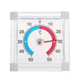 Termometr do pomiaru temperatury okno wewnątrz na zewnątrz ściany cieplarnianych ogród domu