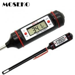 MOSEKO przenośny cyfrowy termometr kuchenny mięso na grilla woda gotowanie elektronicznych sonda żywności termometr piekarnika W