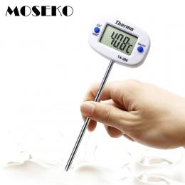 MOSEKO obrotowy cyfrowy termometr żywności mięso na grilla czekoladowe piekarnik mleko woda gotowanie termometr kuchenny elektro