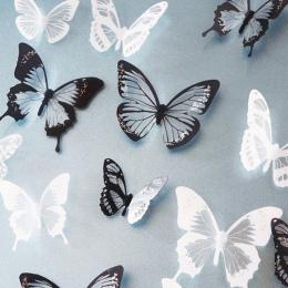 18 sztuk/partia 3d efekt krystalicznie motyle naklejki ścienne piękny motyl dla dzieci naklejki ścienne do pokoju dekoracji domu