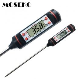 MOSEKO cyfrowy termometr do mięsa gotowanie żywności do kuchni na grilla sonda woda mleko olej płynny termometr piekarnika cyfro