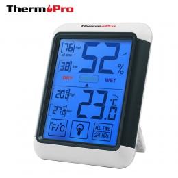 Thermopro TP55 higrometr cyfrowy termometr termometr pokojowy z ekranem dotykowym i podświetlenie czujnik temperatury wilgotnośc