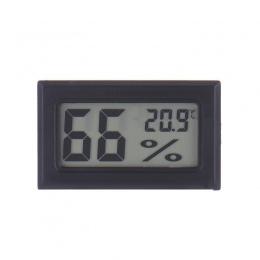 Mini czarny cyfrowy wyświetlacz LCD temperatura wilgotność w pomieszczeniu miernik wilgotności termometr higrometr czujnik tempe