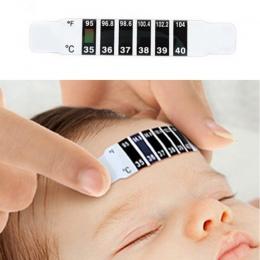 LCD taśma do termometru ABS wielokrotnego użytku elastyczne głowy gorączka Termometr na czoło zmiana koloru domowy Test temperat