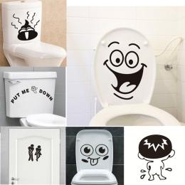 Zabawny uśmiech łazienka naklejki ścienne toaleta dekoracja domu wodoodporne naklejki ścienne do toalety naklejki dekoracyjne pl