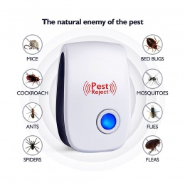 Ultradźwiękowy elektroniczny odstraszacz szkodników Mosquito Mouse szczur wielofunkcyjny gryzoni środek odstraszający owady Mini