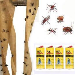 4 rolki lepkie muchy papierowe wyeliminować lotnicze owadów Bug domu papier do klejenia pułapka Catcher Fly Bug Mosquito Killer