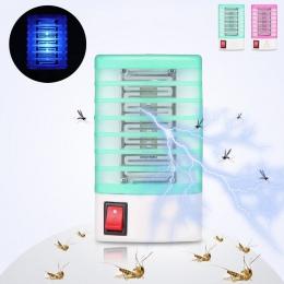 1 sztuk lampa komar morderca Anti Mosquito elektryczne Mosquito Fly Bug owad pułapka zabójca Zapper US ue wtyczka szkodników kon