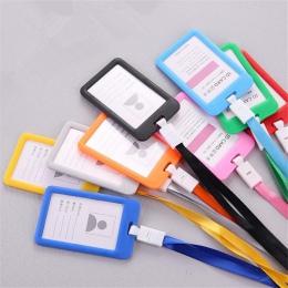 1 sztuk nowy nazwa posiadacze kart kredytowych kobiety mężczyźni PU banku karty pasek na szyję posiadacz karty ID holder studenc