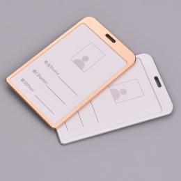 1 PC ze stopu aluminium ze stopu aluminium biznesu posiadacz karty karty ID odznaka uchwyt na pionowe metalu ID biznes przypadku