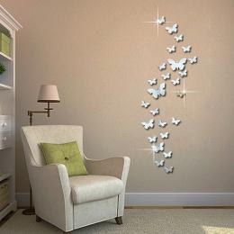12 sztuk 3D lusterka motyl naklejki ścienne naklejka Wall Art wymienny pokój dekoracja na przyjęcie ślubne wystrój domu naklejki