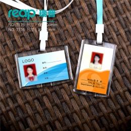 Przezroczysty akryl kryształ personel identyfikacji nazwa karty odznaka ID dostęp do wystawy odznaka z smycze (rozmiar standardo