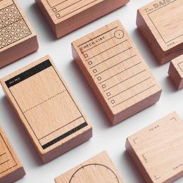 Pamiętnik z drewna na zamówienie pieczątek Scrapbooking, tło pieczęć do Memo zadanie sprawdź rekord utrzymać