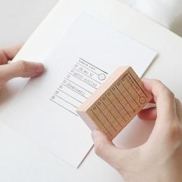 1 zestaw Retro lista kontrolna alfabet liczba czas planowanie drewniane zestaw gumowych stempli dla DIY Scrapbooking karty dekor