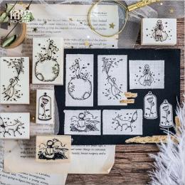 W stylu Vintage mały książę i jego planeta gumowa uszczelka znaczki drewno czyste znaczki DIY scrapbooking dekoracji jasne znacz