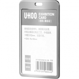 UHOO wysokiej jakości stopu Aluminium posiadacz karty ID pracy tożsamości nazwa odznaka uchwyt wyświetlacz posiadacz karty hurto