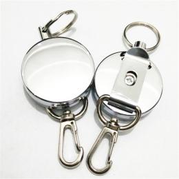 1 sztuk nowy Metal chowany Pull Key Ring ID smycz na identyfikator nazwa karta identyfikacyjna uchwyt na odrzutu kołowrotek zacz