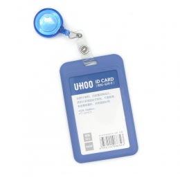 Chowany odznaka bębnowy etui na karty chowany plastikowa imienna etykieta odznaka identyfikacji z odznaka kołowrotek