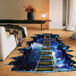 Nowy duży 3d przestrzeni kosmicznej naklejki ścienne Galaxy gwiazda most dekoracji domu dla dzieci pokój salon na naklejki ścien