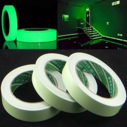 3 m 15mm taśma samoprzylepna klej PET taśma ostrzegawcza Night Vision blask w ciemności naklejki ścienne fluorescencyjne awaryjn