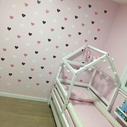Serce naklejki ścienne dla dzieci pokój dla dzieci dziewczyna pokój dekoracyjne naklejki przedszkole sypialnia Wall kalkomanie d