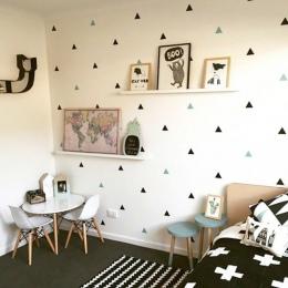 Dla dzieci chłopiec pokoju małe trójkąty naklejki ścienne dla dzieci pokój dekoracyjne naklejki dla dzieci sypialnia przedszkole