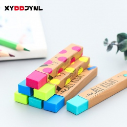 1 pc Kawaii biurowe prostokąt 2B ołówek gumka do mazania nagrody studenckie prezent jednolity kolor miękkie gumki szkoły dostaw